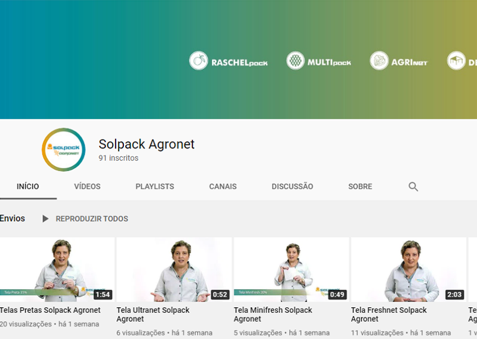 Conheça nosso Canal no Youtube!